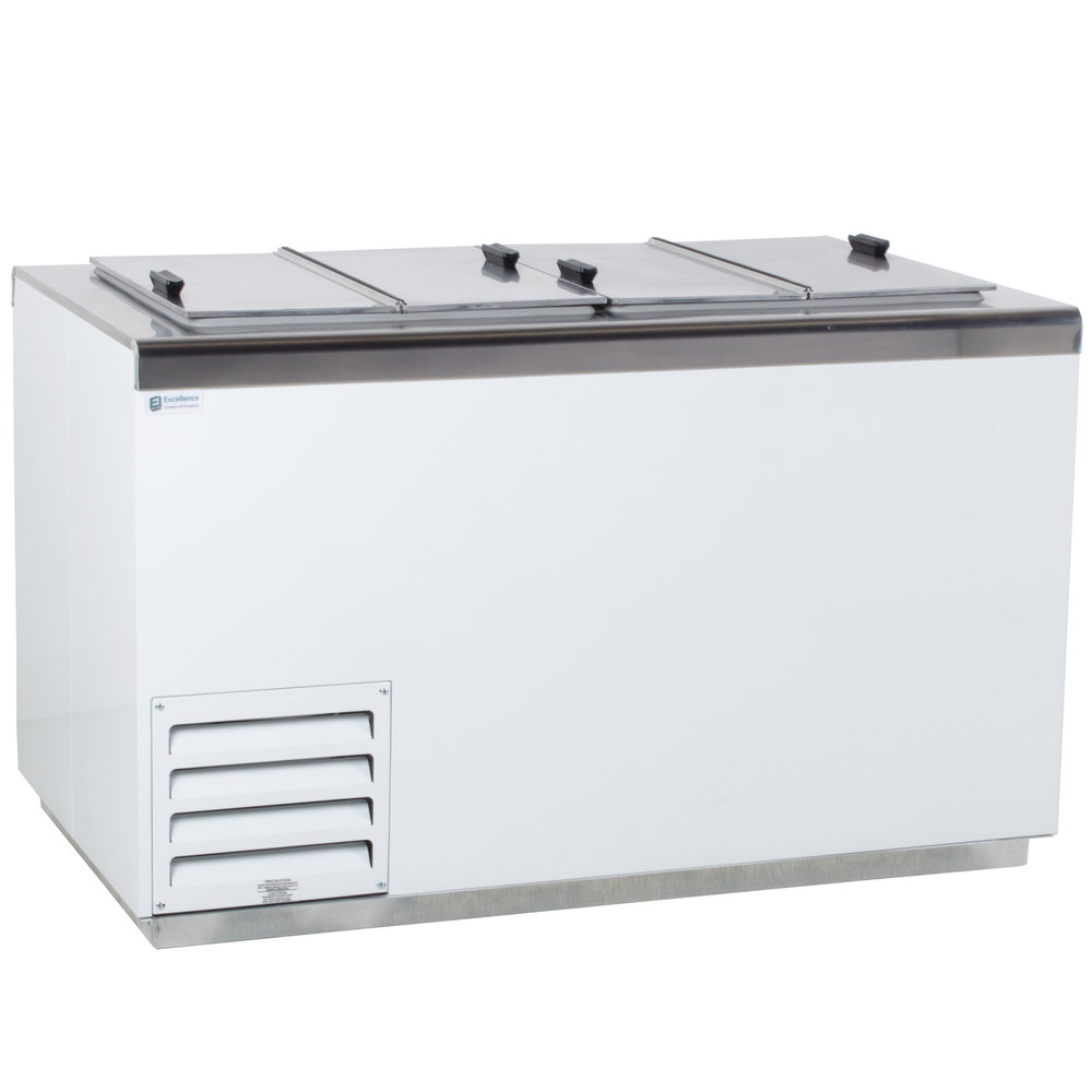 "excellence hff-8 54"" flip lid ice cream dipping cabinet"