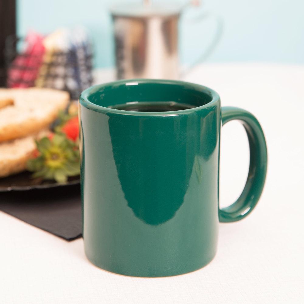 tuxton bgm 1202 duratux 12 oz hunter green china c handle mug
