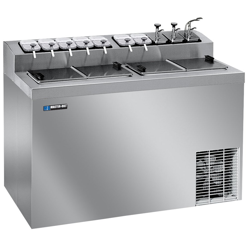 Master-Bilt FLR-80SE Stainless Steel Flip Top Ice Cream Dipping ...