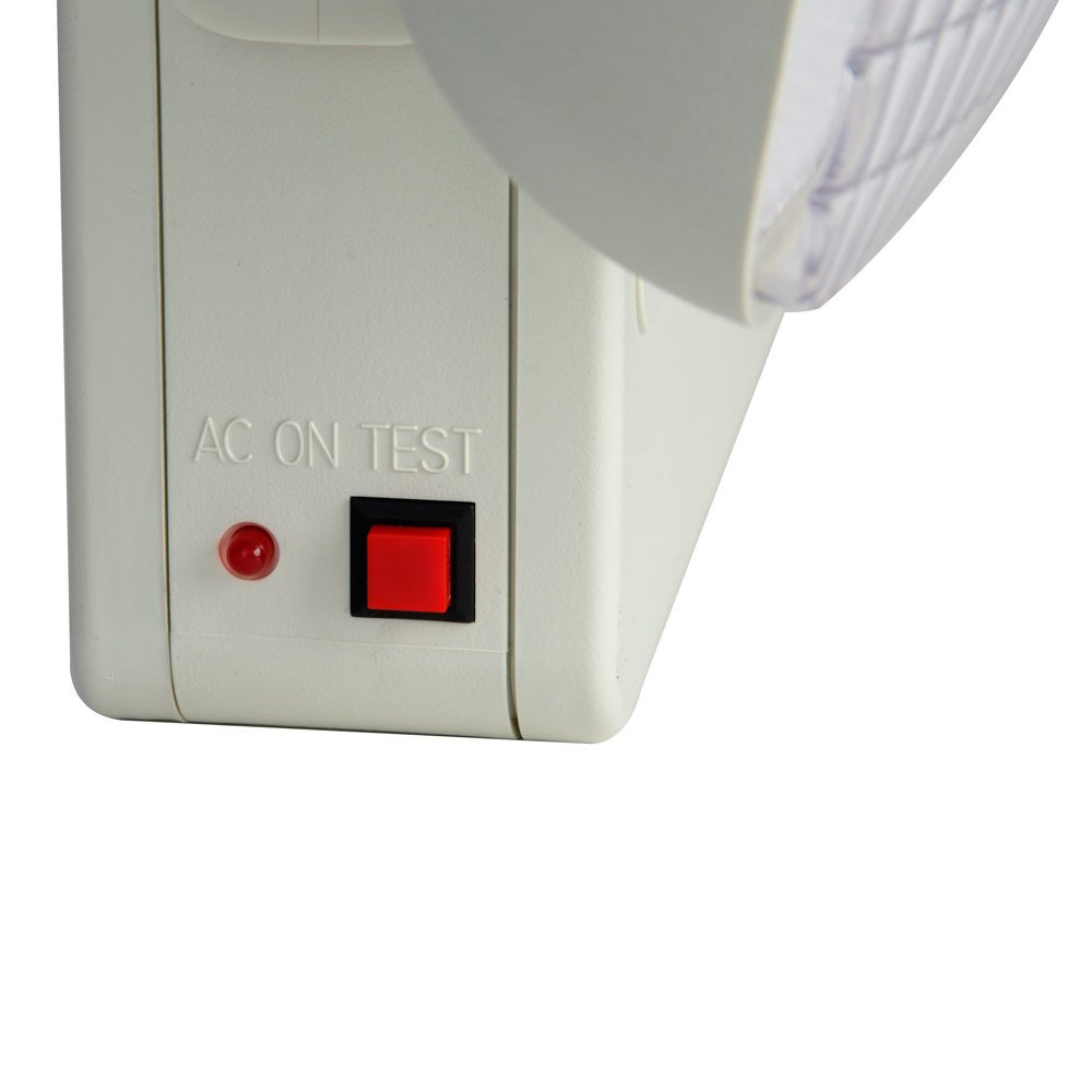 exit sign and emergency light combination with battery backup 120v. Black Bedroom Furniture Sets. Home Design Ideas