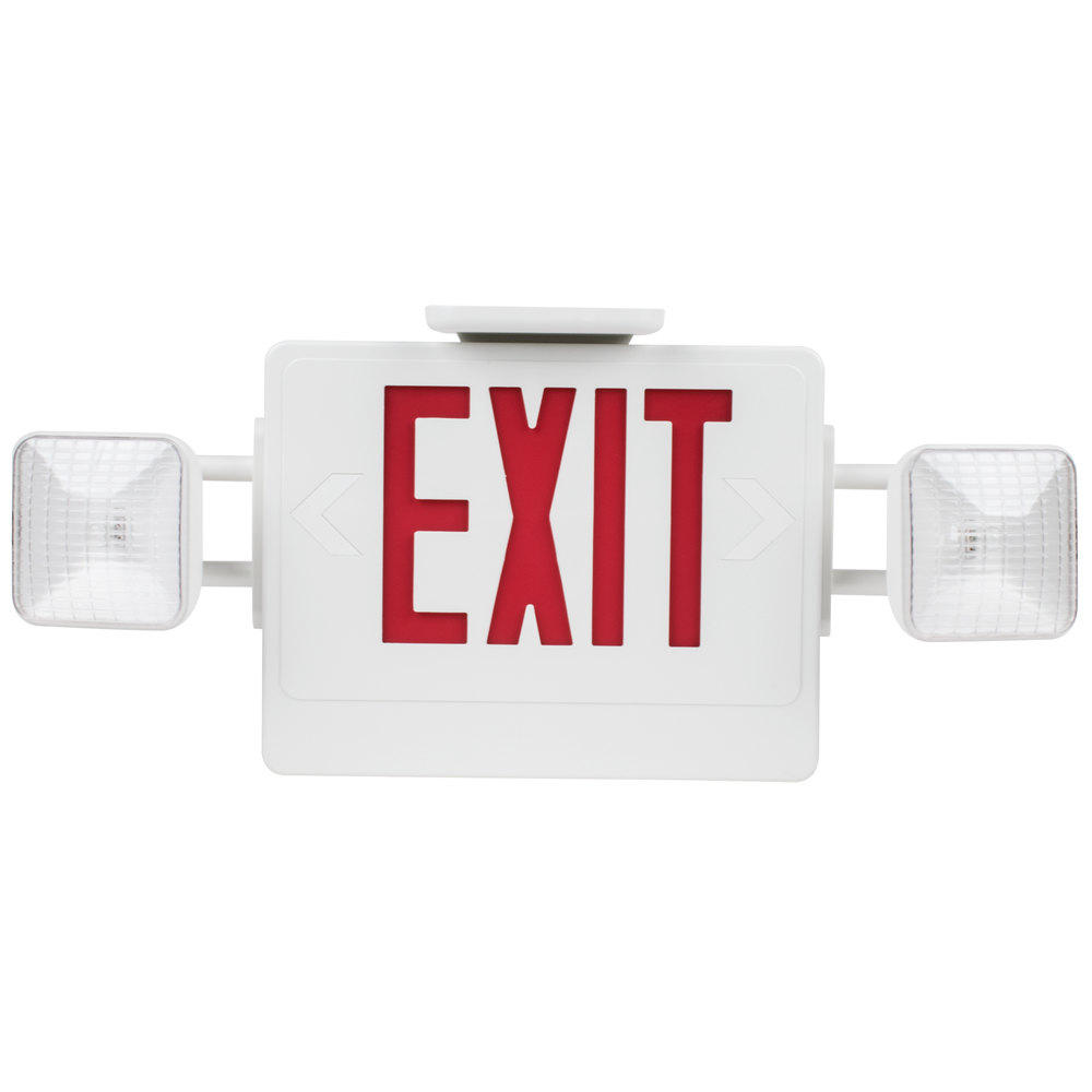 Gas Ranges >> Exit Sign and Emergency Light Combination with Battery Backup (120V)