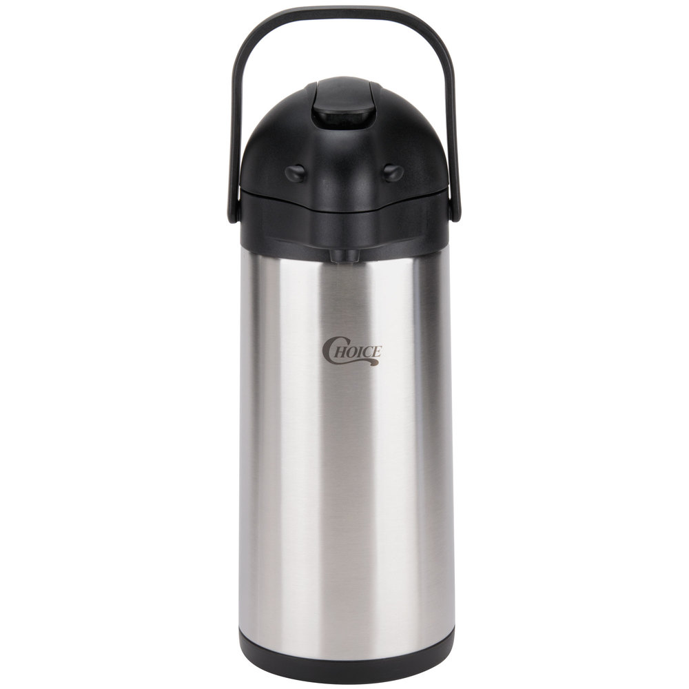 Liter Stainless Steel Lined Coffee Airpot Dispenser With Lever