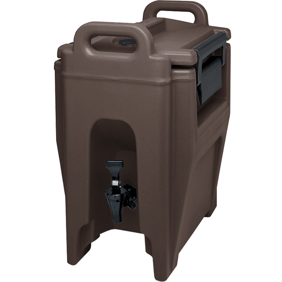 Cambro UC250131 Ultra Camtainer 2.75 Gallon Dark Brown Insulated Beverage Dispenser