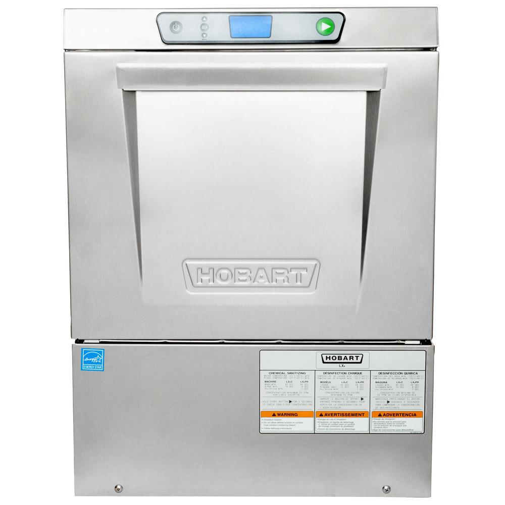 Hobart LXeC-3 Undercounter Dishwasher with Chemical Sanitizing - 120V