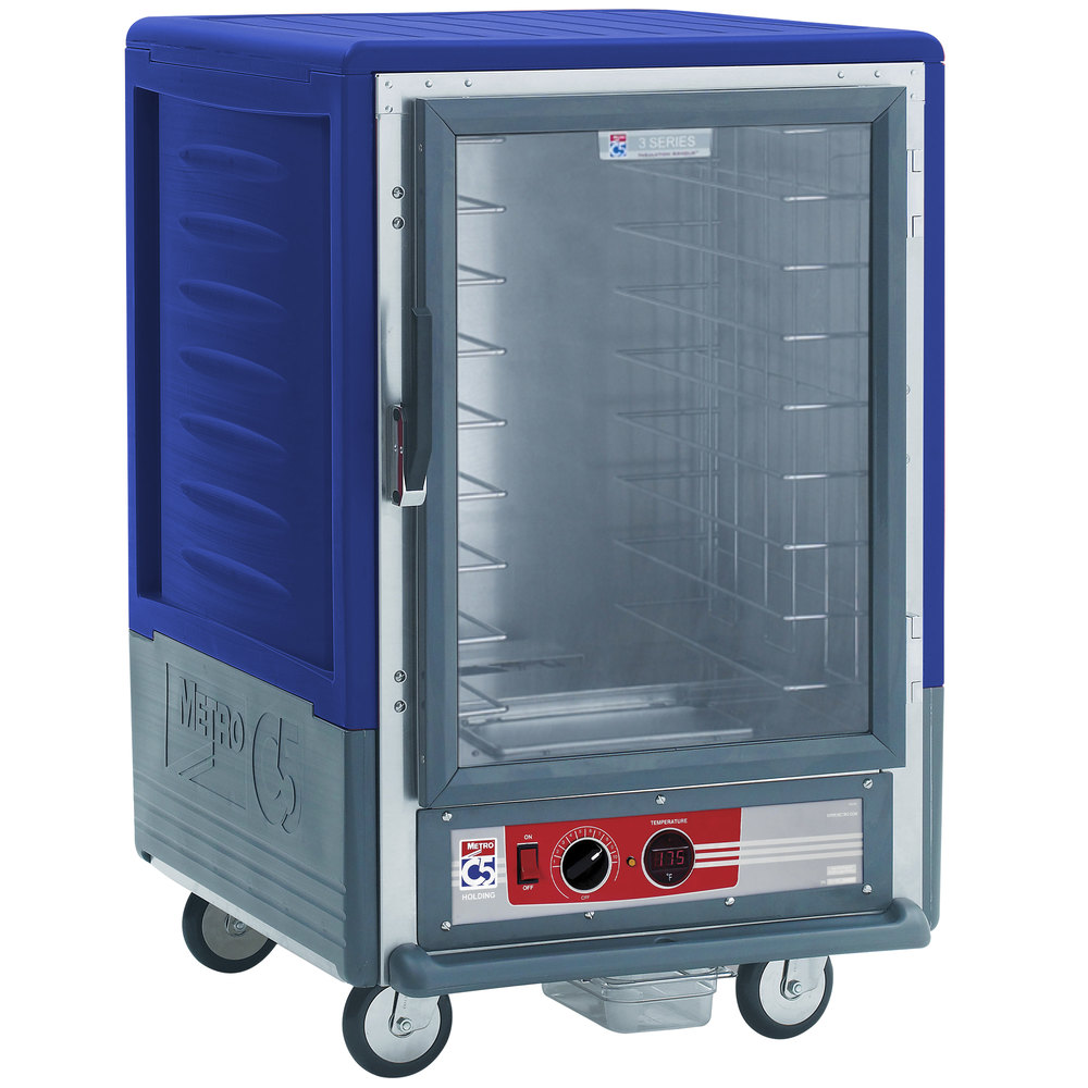 Metro C535-HFC-4-BU C5 3 Series Heated Holding Cabinet with Clear Door - Blue