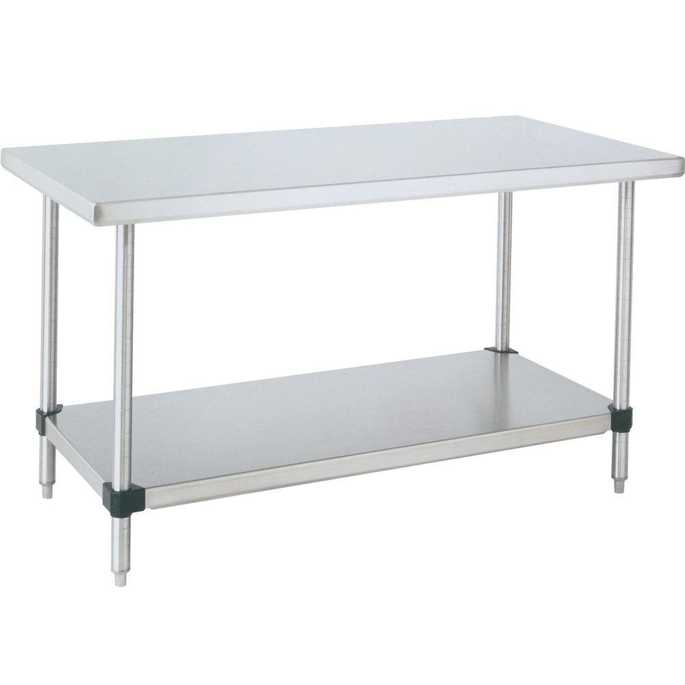 "14 Gauge Metro WT449FS 44"" x 96"" HD Super Stainless Steel Work Table with Stainless Steel Undershelf"