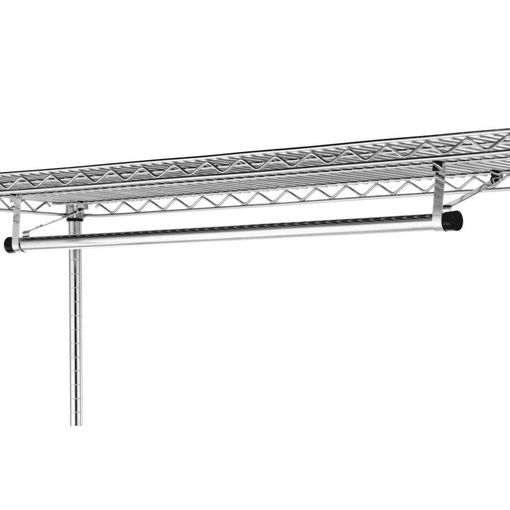 "Metro AT7224NC 72"" Garment Hanger Tube with Brackets for 24"" Wide Shelves"