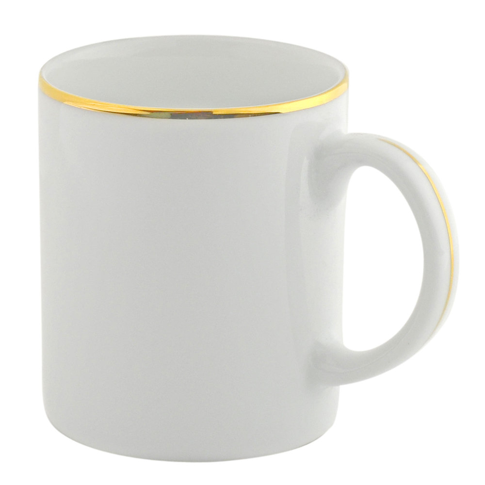 10 Strawberry Street GL0028 10 oz. Gold Line C-Handle Mug - 24 / Case