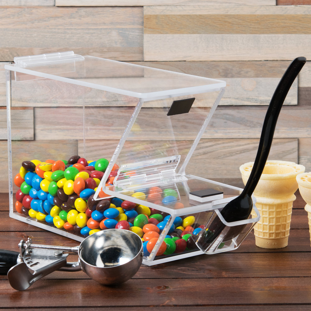 "Cal-Mil 927-H Stackable Topping Dispenser with Holster - 4"" x 11"" x 7"""