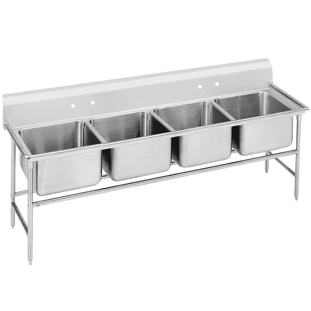 Advance Tabco 94-84-80 Spec Line Four Compartment Pot Sink - 97""