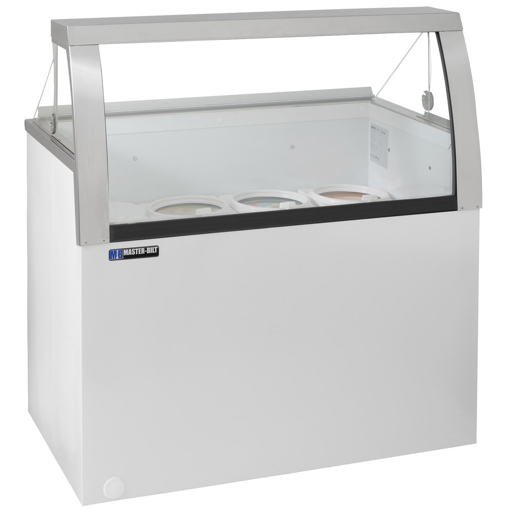 Low Glass Cabinet Master Bilt Dd 46lcg 48 Low Curved Glass Ice Cream Dipping Cabinet