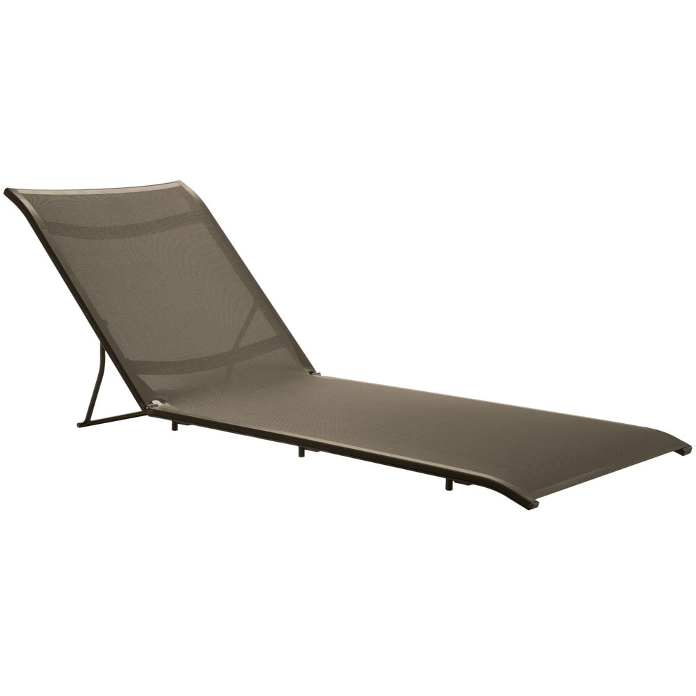 Grosfillex us364599 sunset cognac chaise lounge sling with for Bronze chaise lounge