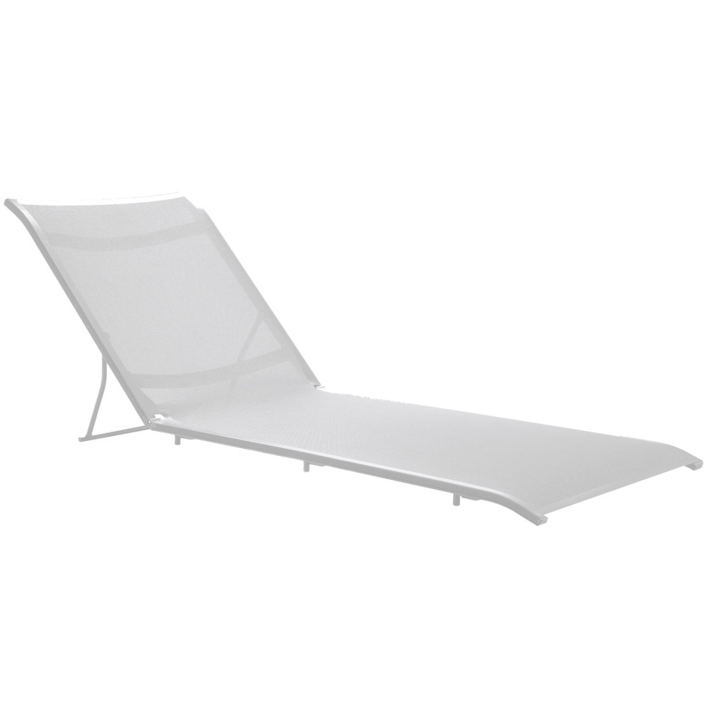 Grosfillex us303096 sunset white chaise lounge sling with - Grosfillex chaise longue ...