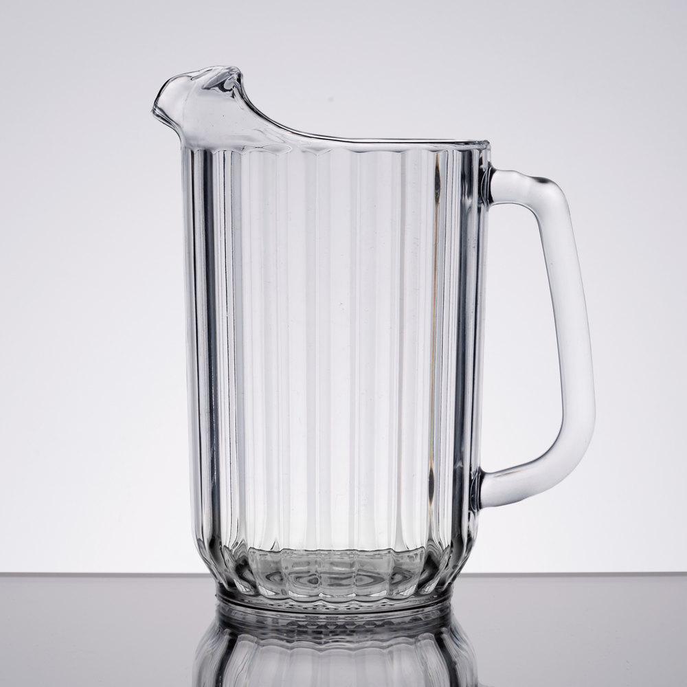 cambro camwear p320cw135 clear 32 oz plastic pitcher. Black Bedroom Furniture Sets. Home Design Ideas