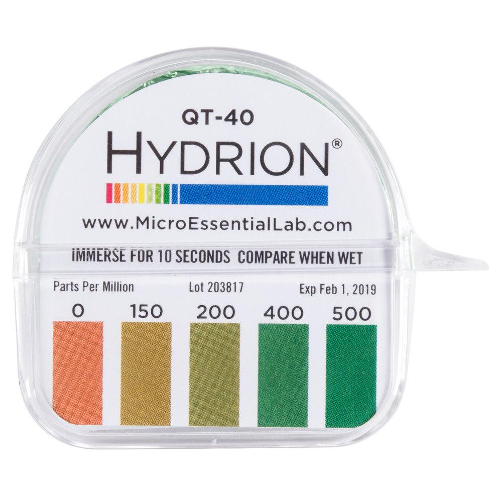 hydrion qt 40 quaternary test paper dispenser 0 500ppm. Black Bedroom Furniture Sets. Home Design Ideas