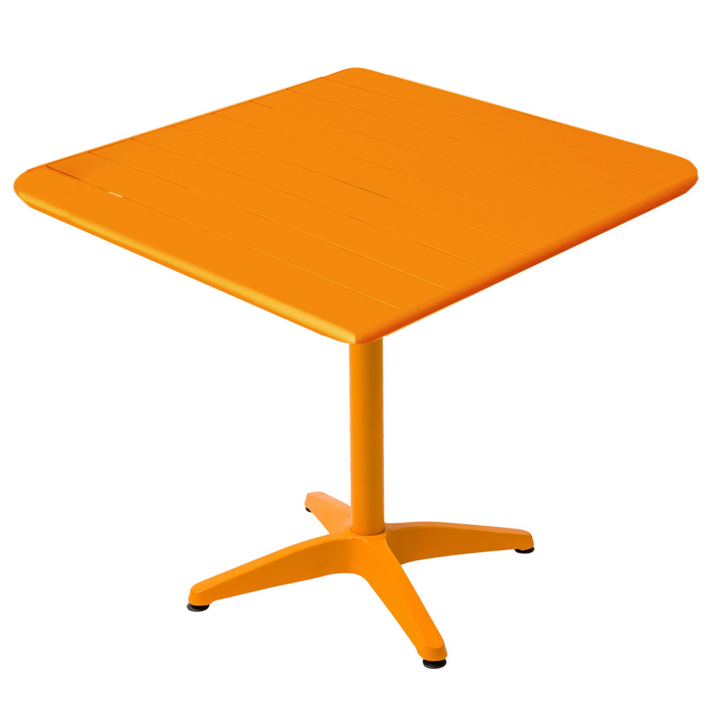 Charming BFM Seating MSB3636CT Beachcomber 36 Inch Square Citrus Aluminum Outdoor  Table