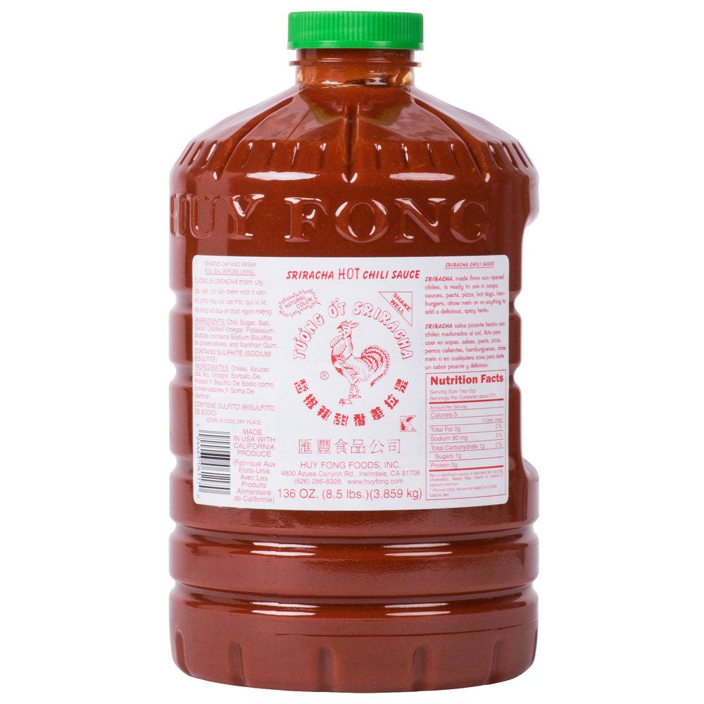 Huy Fong 8 5 Lb Sriracha Hot Chili Sauce
