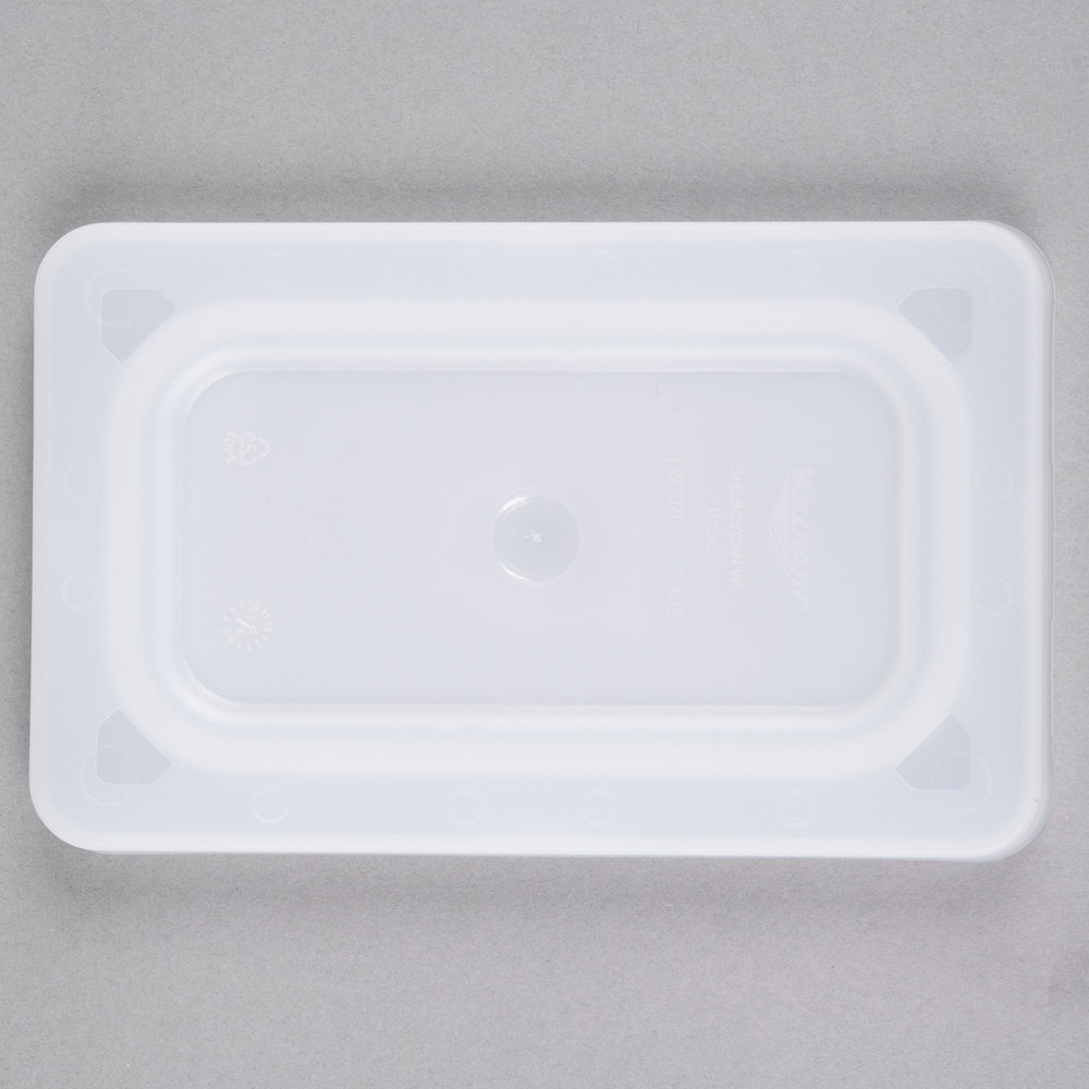 Vollrath 52435 Super Pan V 1/9 Size Flexible Steam Table / Hotel Pan Lid
