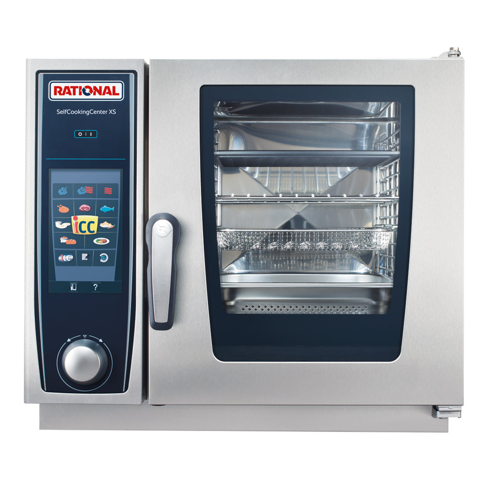 Rational B608106.12 SelfCookingCenter XS 6-2/3 E Single Half Size Electric Combi Oven - 208/240V, 3 Phase, 5.7 kW
