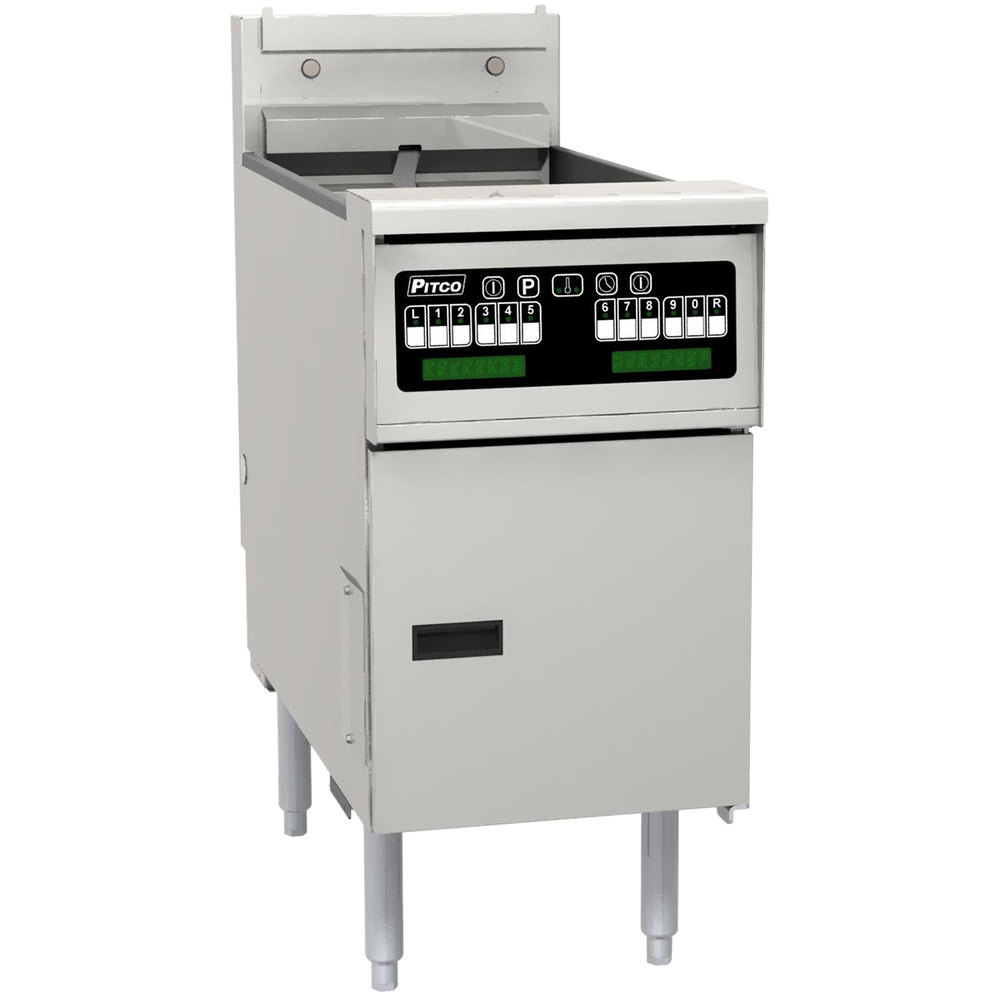 "Pitco SE14X-VS5 40-50 lb. Solstice Electric Floor Fryer with 5"" Touchscreen Controls - 208V, 3 Phase, 14kW"
