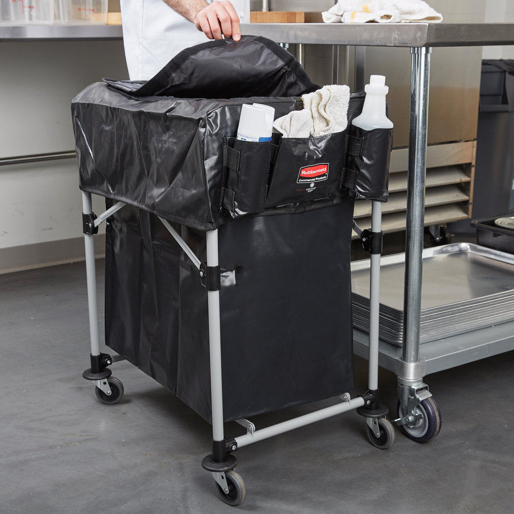 Rubbermaid Laundry Cart 4 Bushel Collapsible X Cart With