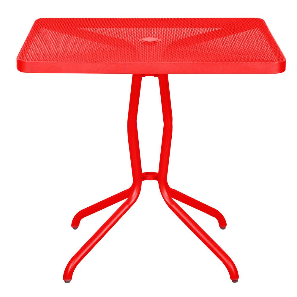BFM Seating DVN3232GEU Nexus 32 inch Square Grenadine Steel Dining Table  Outdoor Restaurant Tables   Restaurant Patio Tables. 32 Inch Tall Dining Table. Home Design Ideas