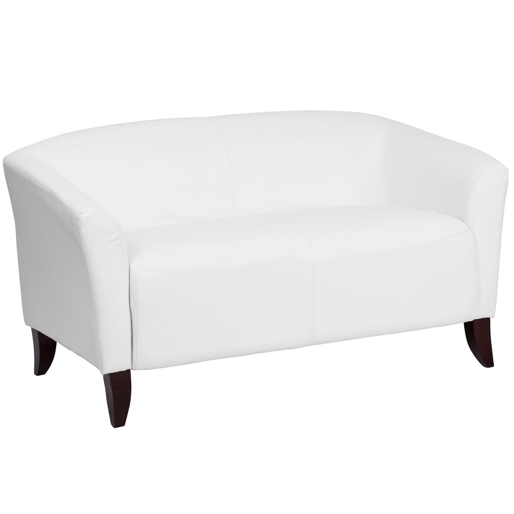 flash furniture whgg hercules imperial white leather  - flash furniture whgg hercules imperial white leather loveseat withwooden feet
