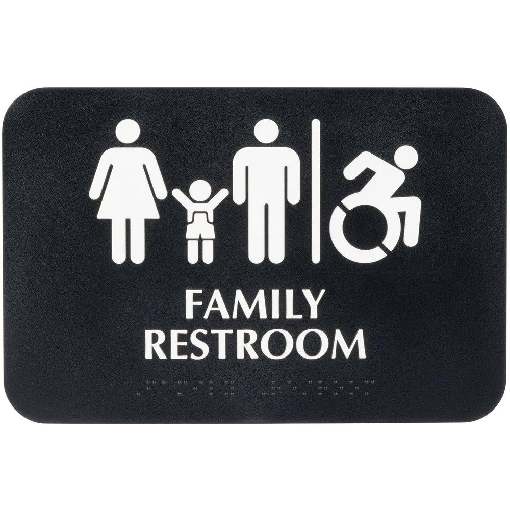 Tablecraft 695651 ADA Family Restroom / Handicap ...