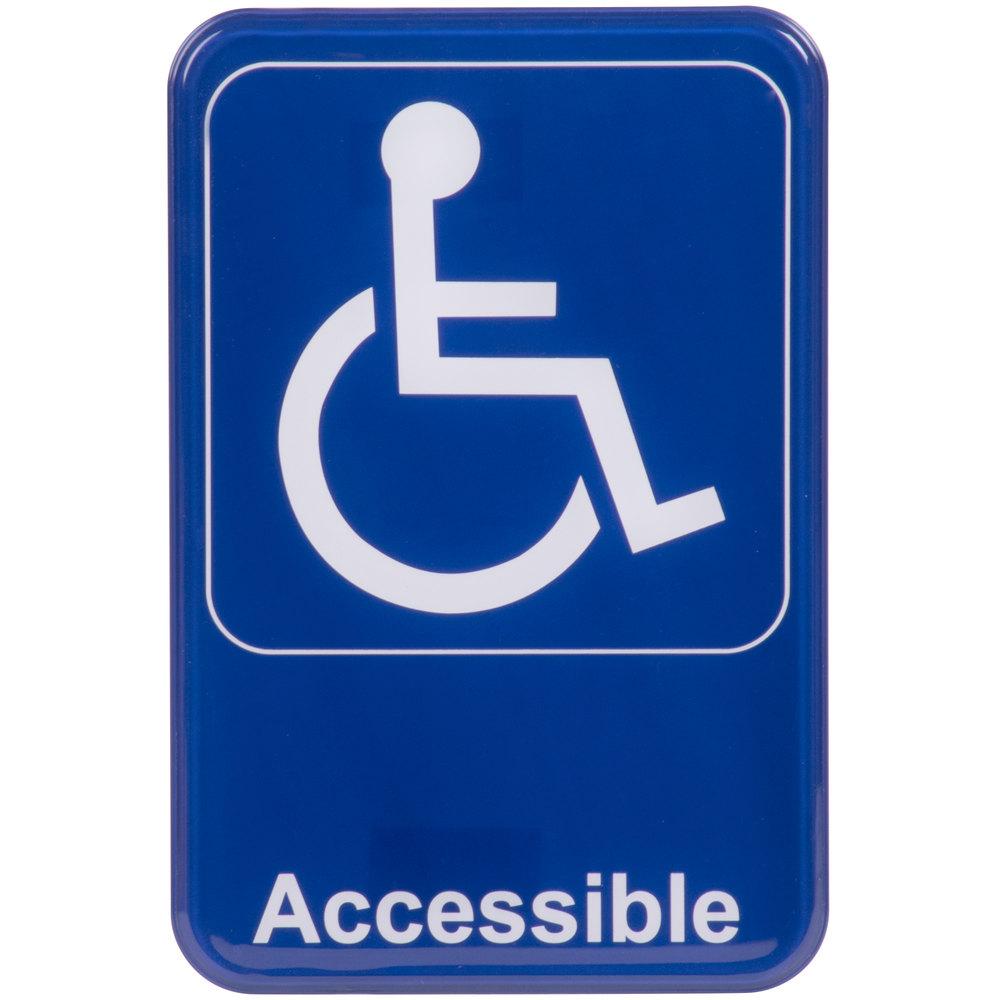 Handicap Accessible Sign Blue And White 9 Quot X 6 Quot