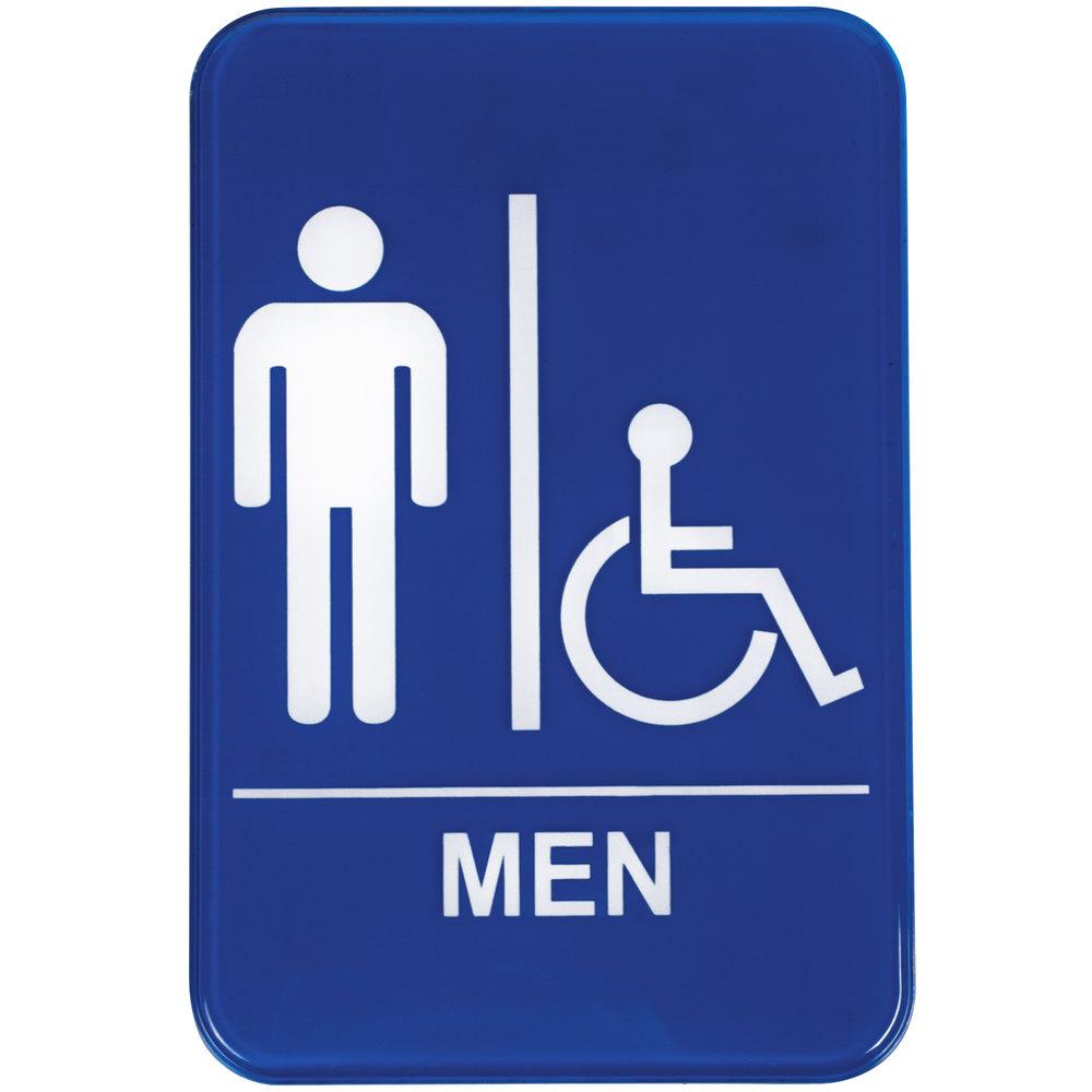 Handicap Accessible Mens Restroom Sign