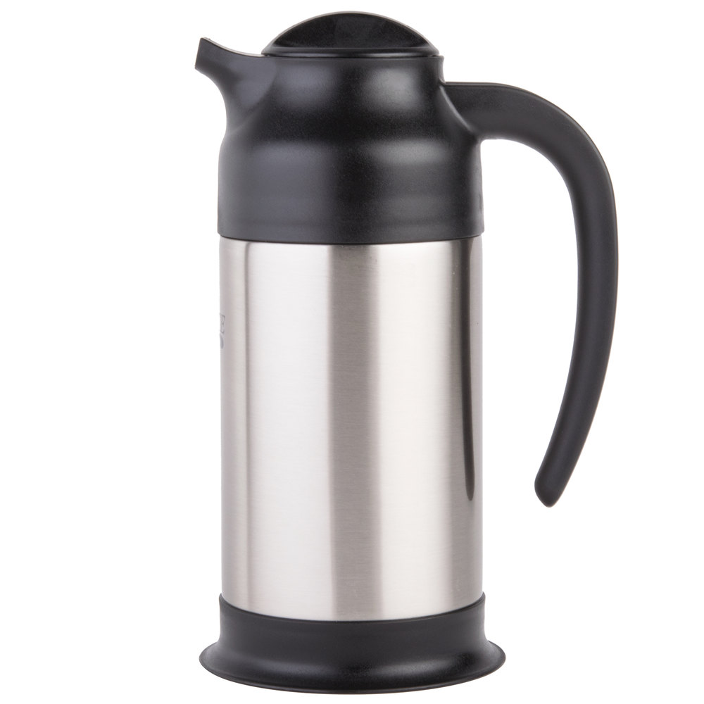 on Stainless Steel Coffee Carafe