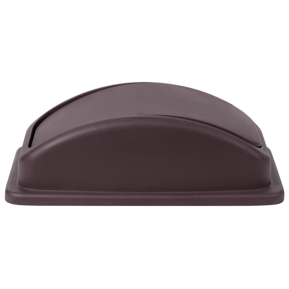 swing dome wall hugger slim jim trash can lid brown. Black Bedroom Furniture Sets. Home Design Ideas