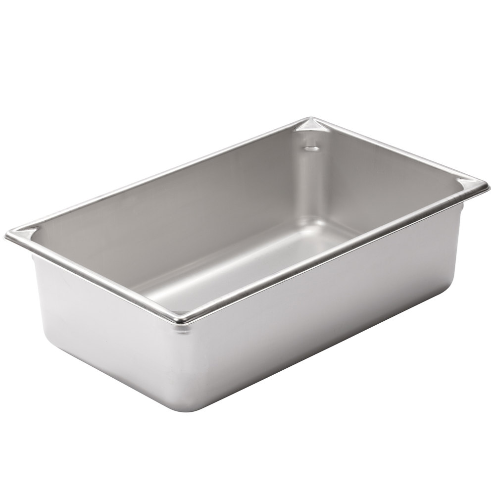 "Vollrath 30062 Super Pan V Full Size Anti-Jam Stainless Steel Steam Table / Hotel Pan - 6"" Deep"