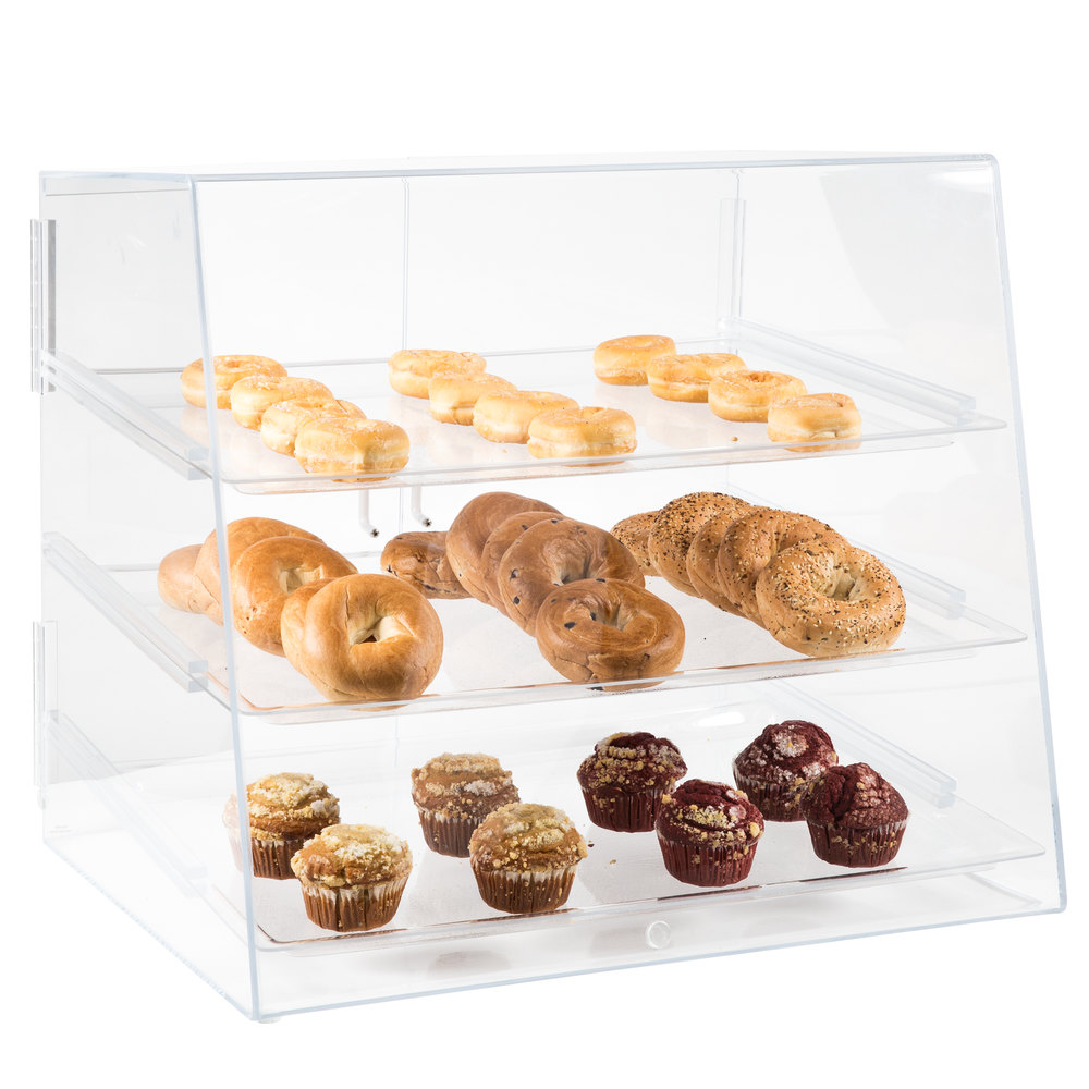 "Cal-Mil 288 Large Bakery Display Case with Double Front Doors - 27"" x 23"" x 28"""