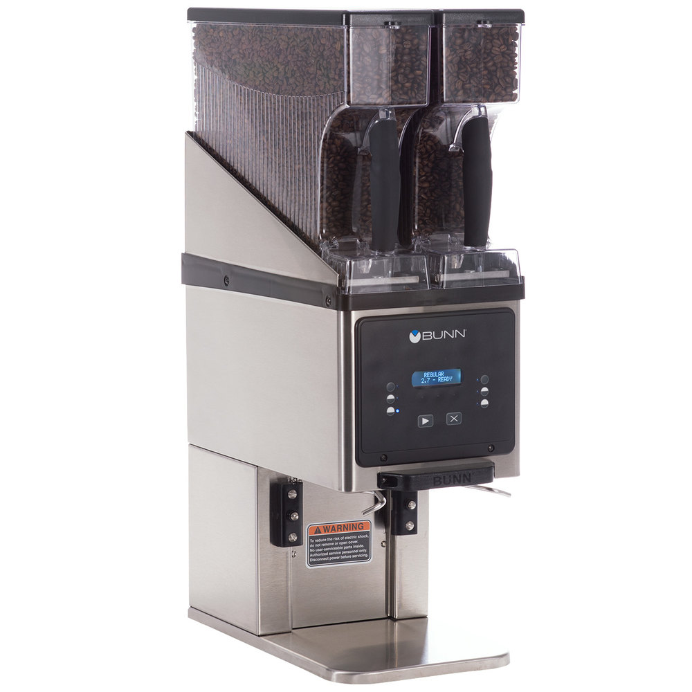 Bunn 35600.0020 BrewWISE MHG Stainless Steel Multi Hopper Coffee Grinder  with Removable Hoppers - 120V