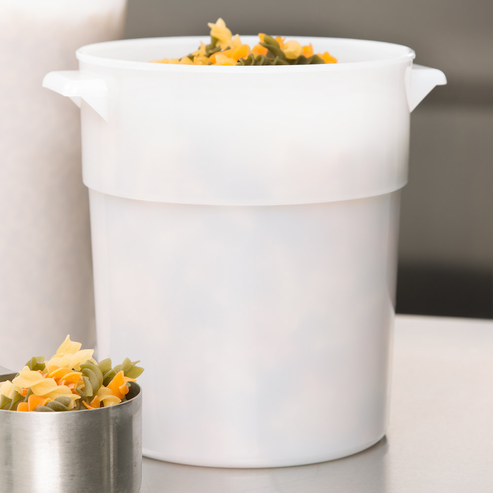 Carlisle 035002 3.5 Qt. White Round Food Storage Container