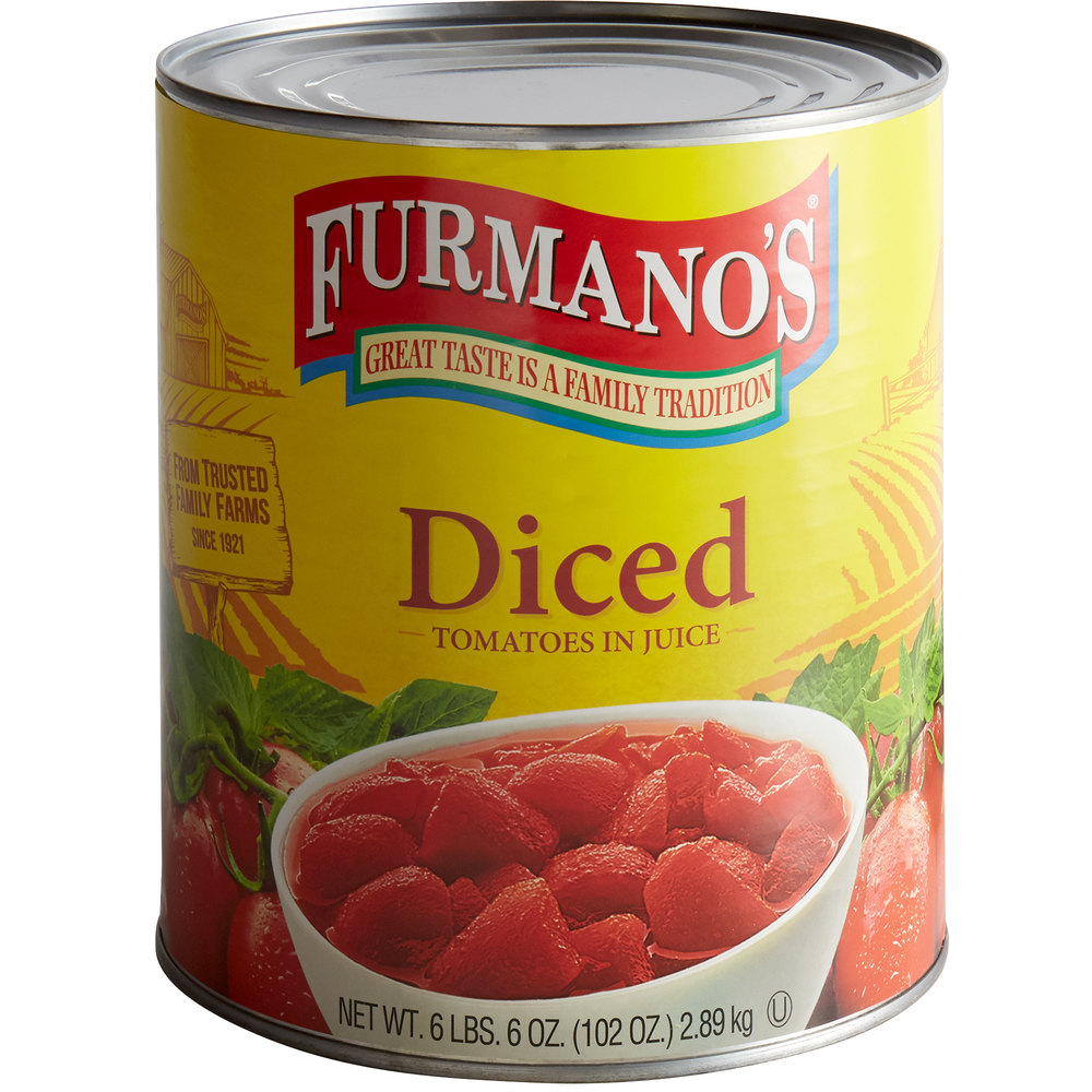 Furmano's #10 Can Diced Tomatoes with Juice