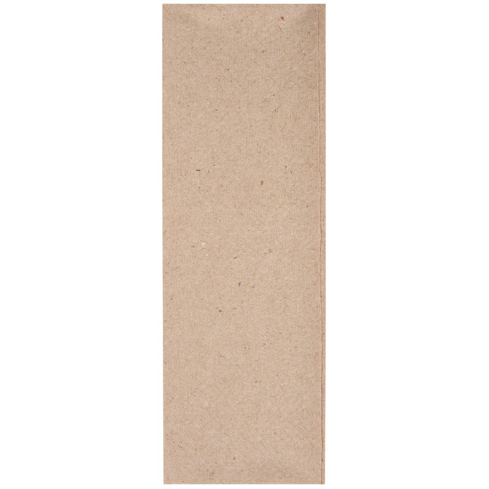 Lavex Janitorial Natural Brown Kraft M-Fold (Multifold) Towel - 4000/Case