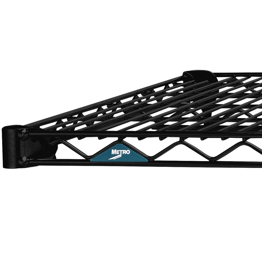 "Metro 1460NBL Super Erecta Black Wire Shelf - 14"" x 60"""