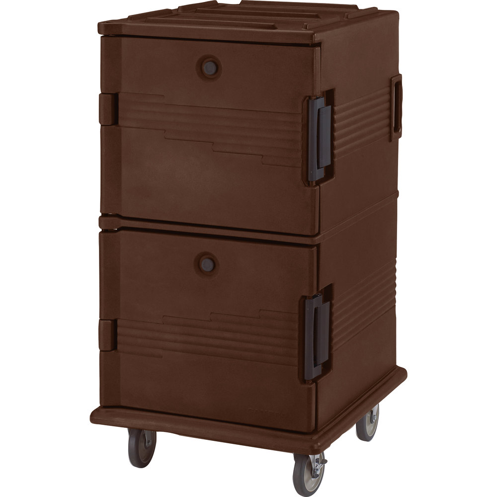 Cambro UPC1600SP131 Dark Brown Camcart Ultra Pan Carrier - Front Load Tamper Resistant