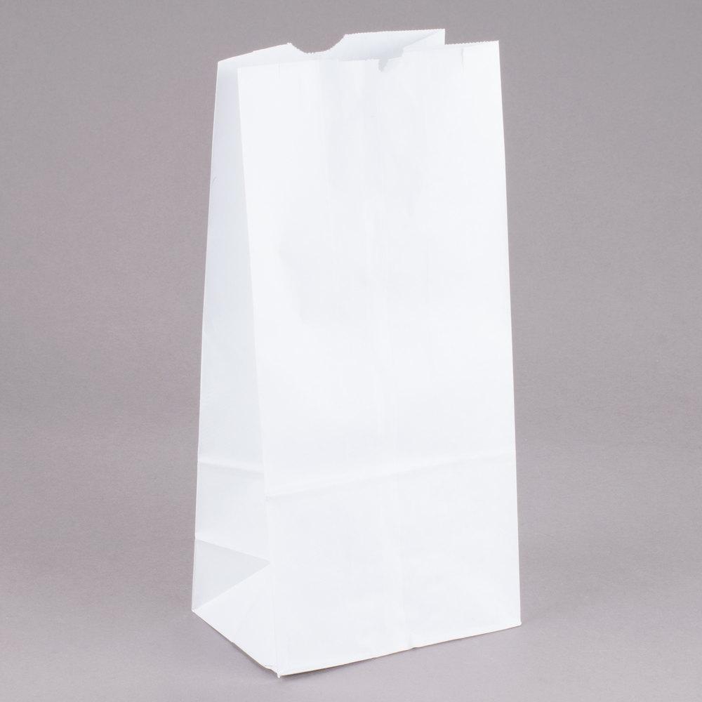 Duro 10 Lb White Paper Bag 500 Bundle