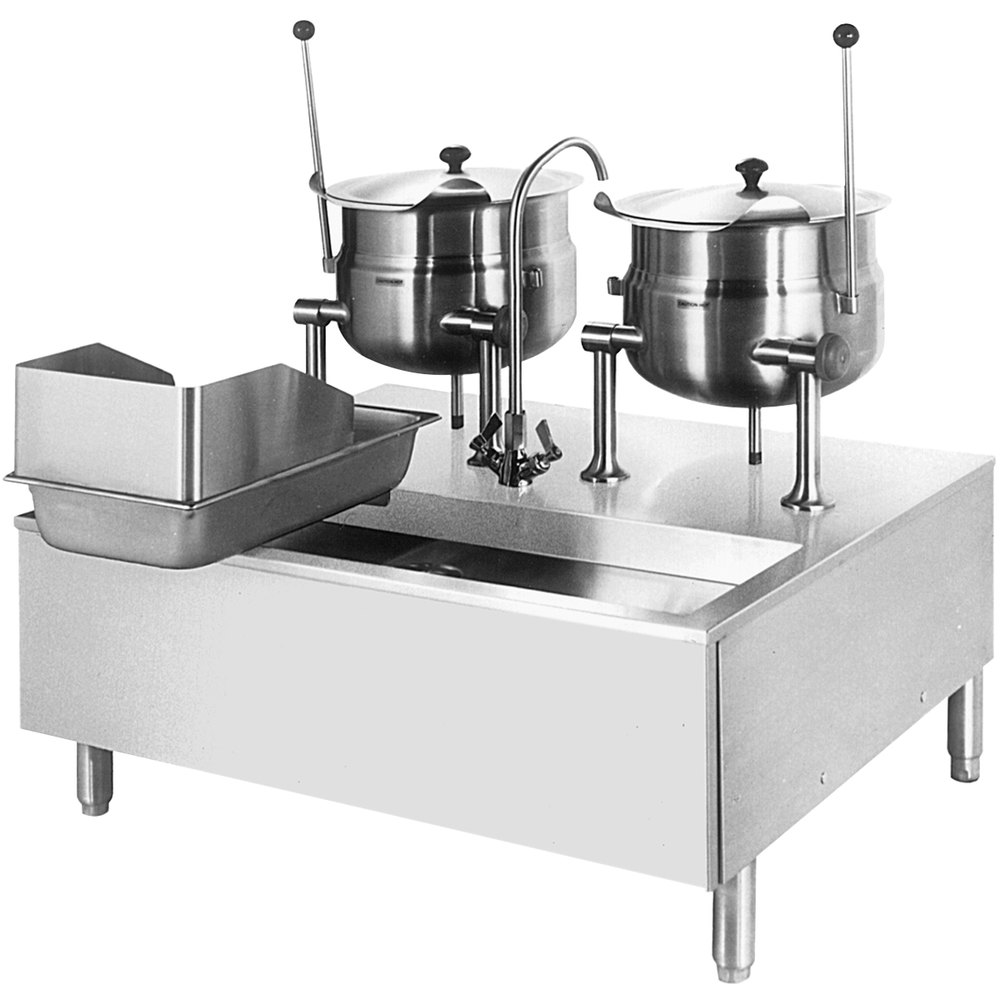 Cleveland SD-760-K12 12 Gallon Tilting 2/3 Steam Jacketed Direct Steam Kettle with Modular Stand