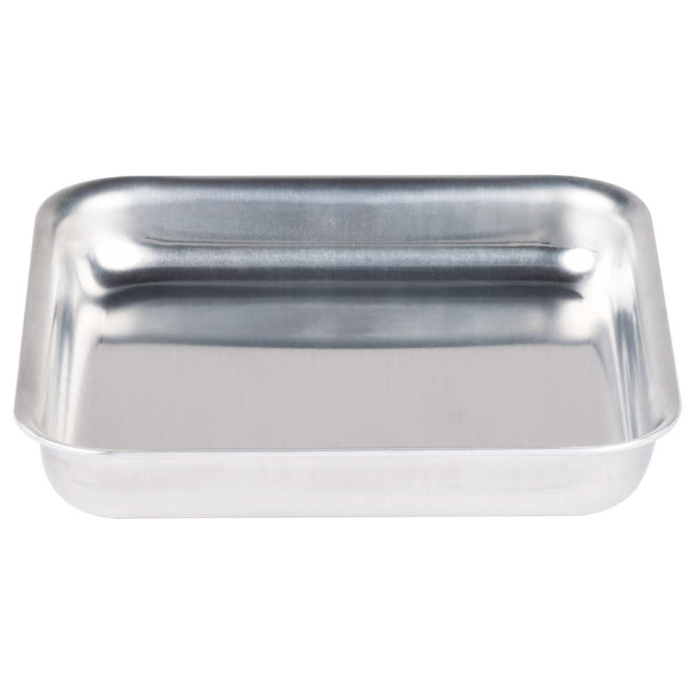 "American Metalcraft SQ615 6"" x 6"" x 1 1/2"" Heavy Weight Aluminum Pizza Pan"