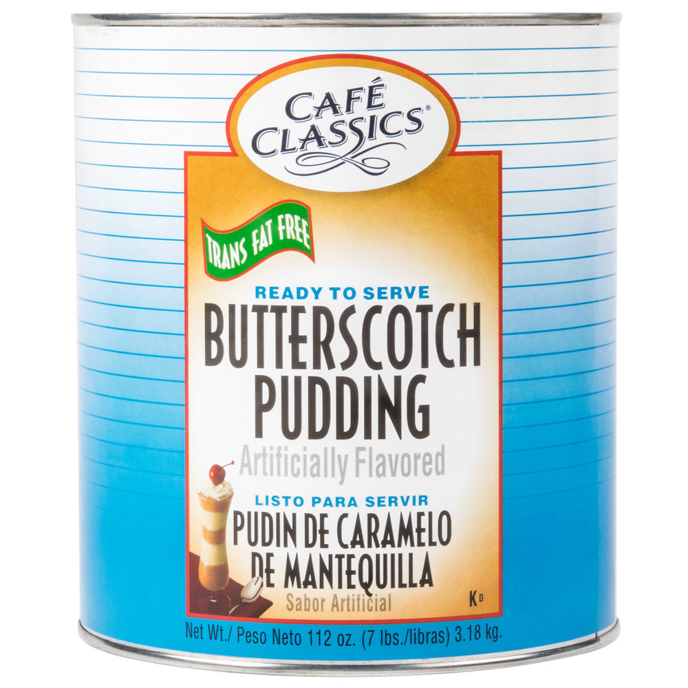 Cafe Classics Trans Fat Free Butterscotch Pudding #10 Can