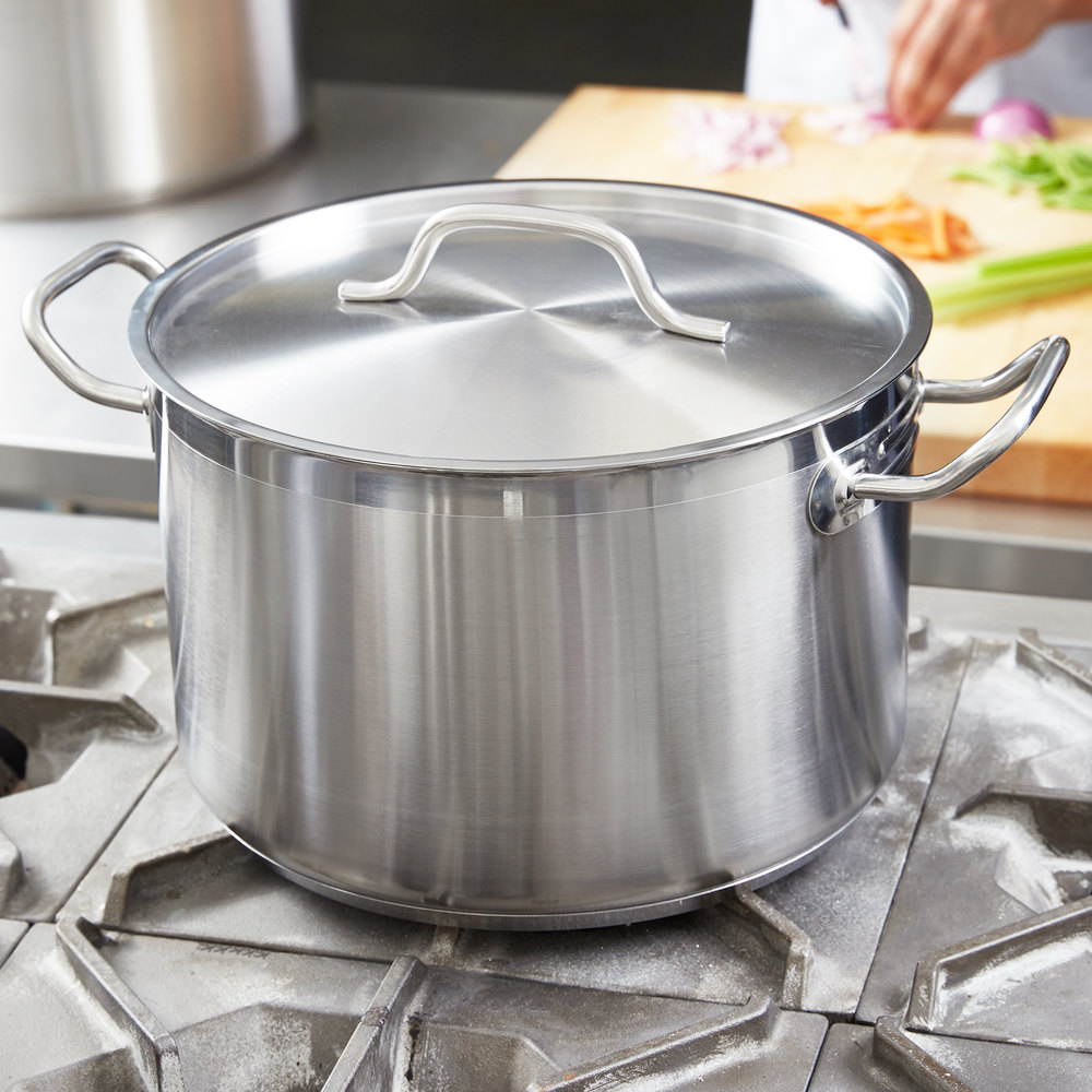 12 Qt. Heavy-Duty Stainless Steel Stock Pot with Cover