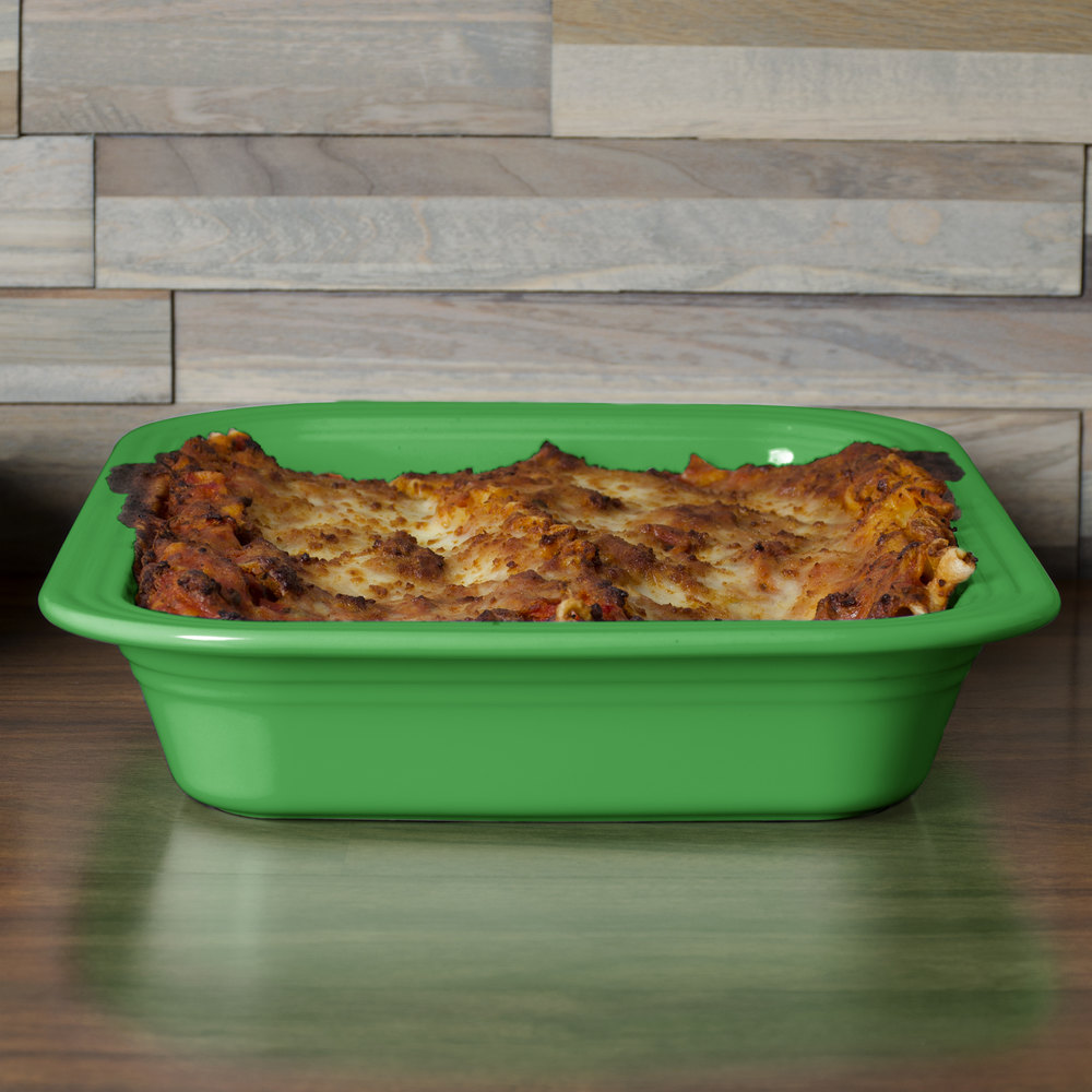 "Homer Laughlin 963324 Fiesta Shamrock 9"" x 13"" Rectangular Baker - 2/Case"