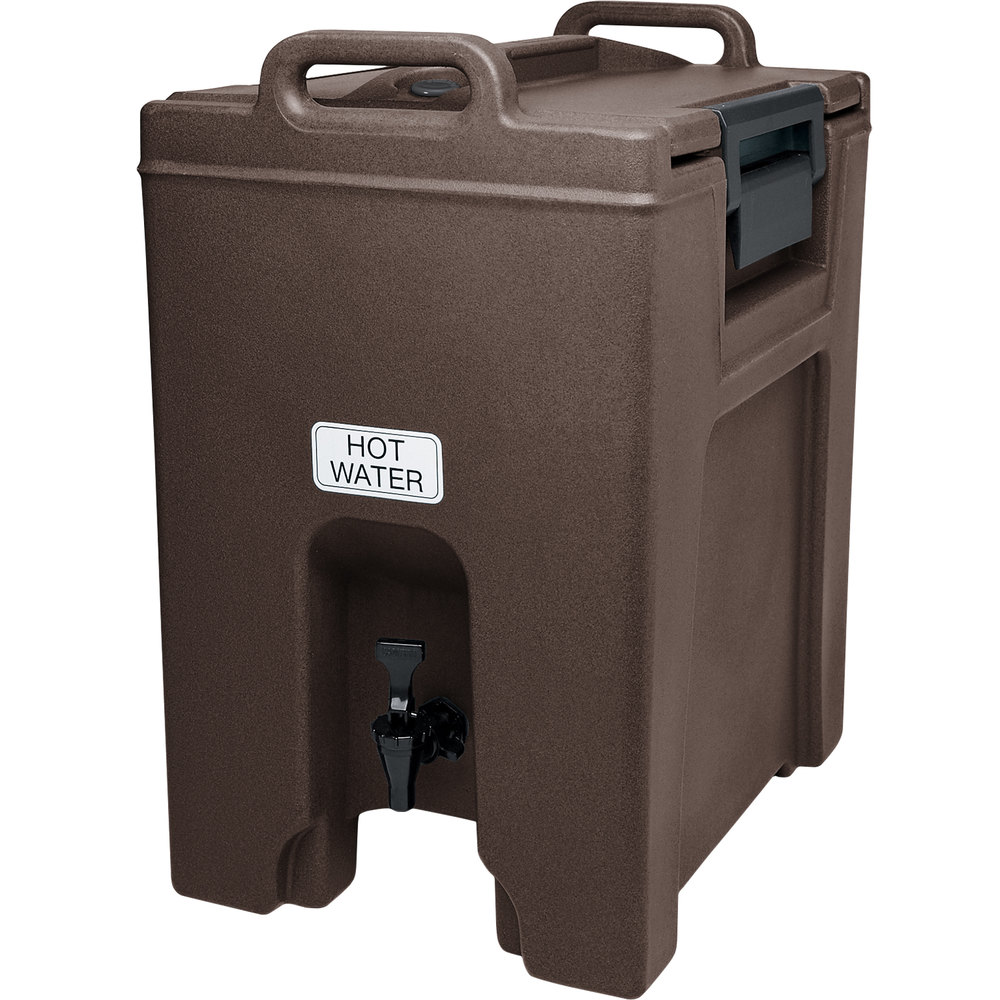 Cambro UC1000131 Ultra Camtainer 10.5 Gallon Dark Brown Insulated Beverage Dispenser