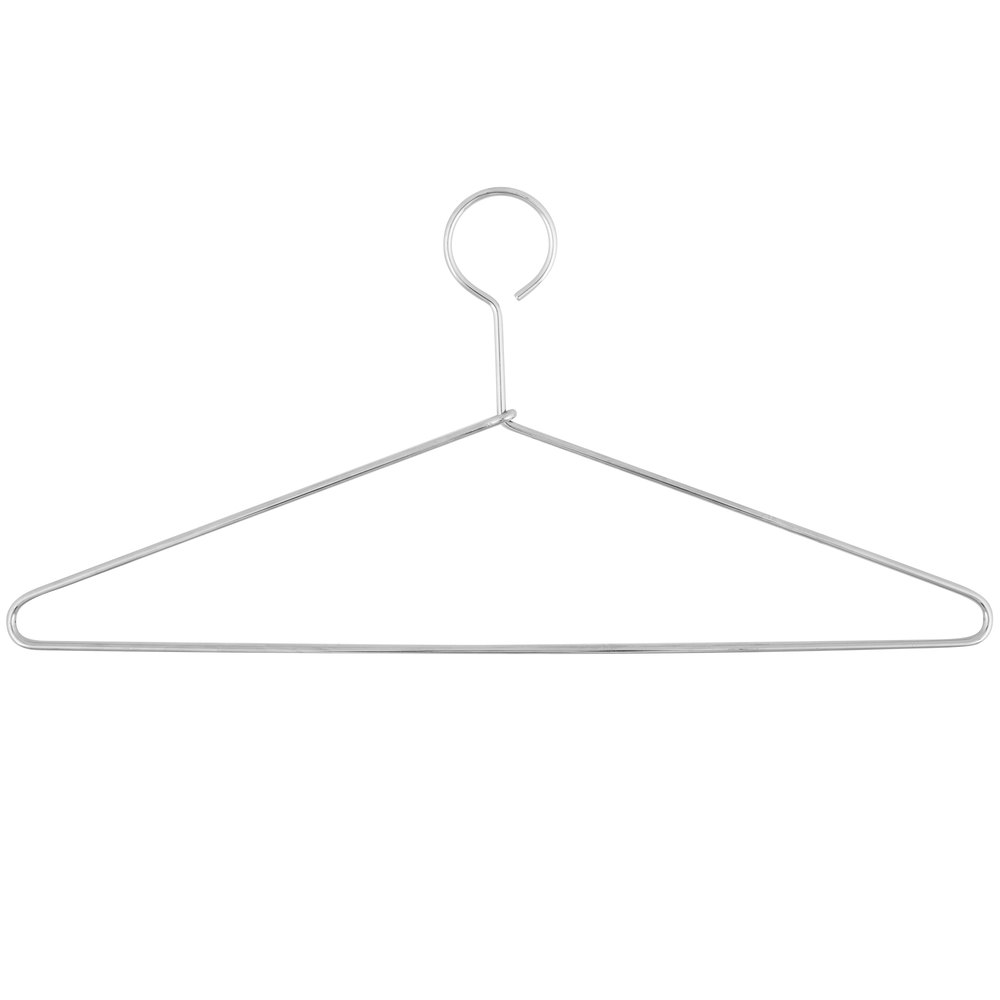Closed Hook Heavy Duty Metal Hanger - 100/Case
