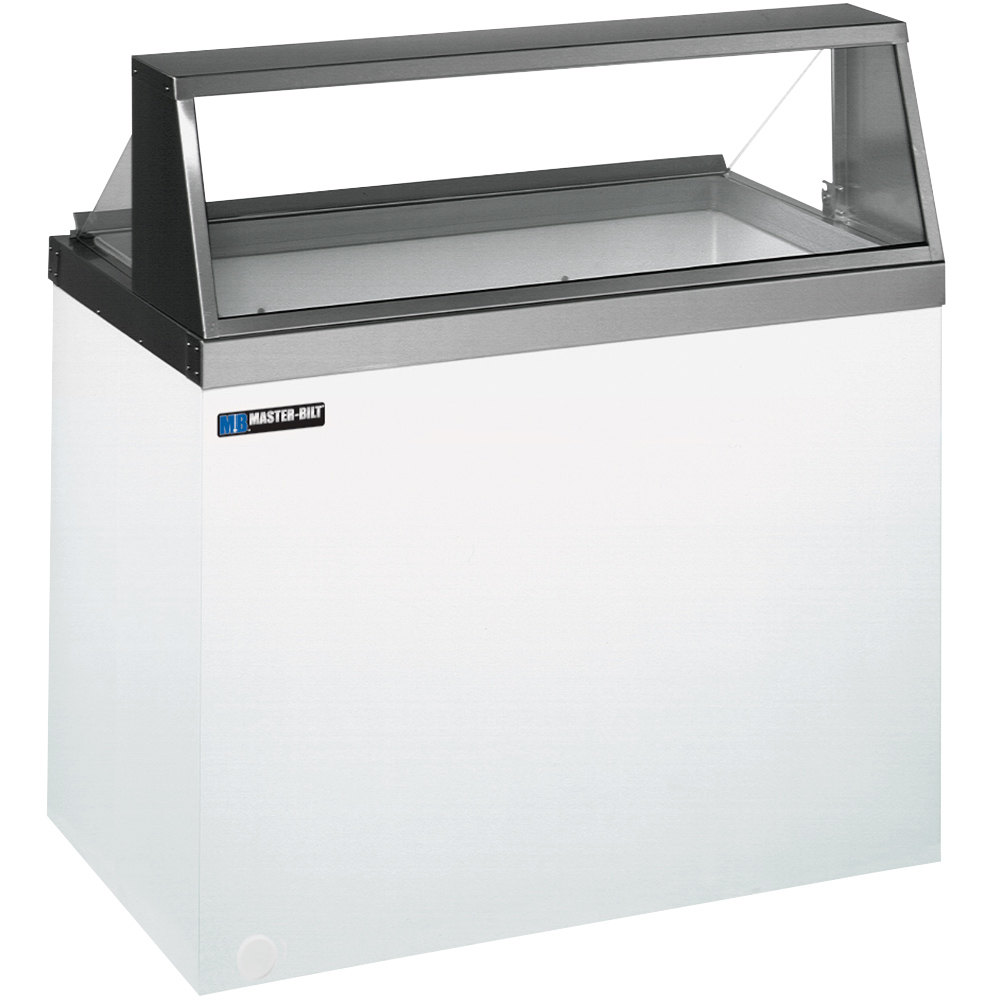 "Master-Bilt DD-46 48"" Straight Glass Ice Cream Dipping Cabinet"