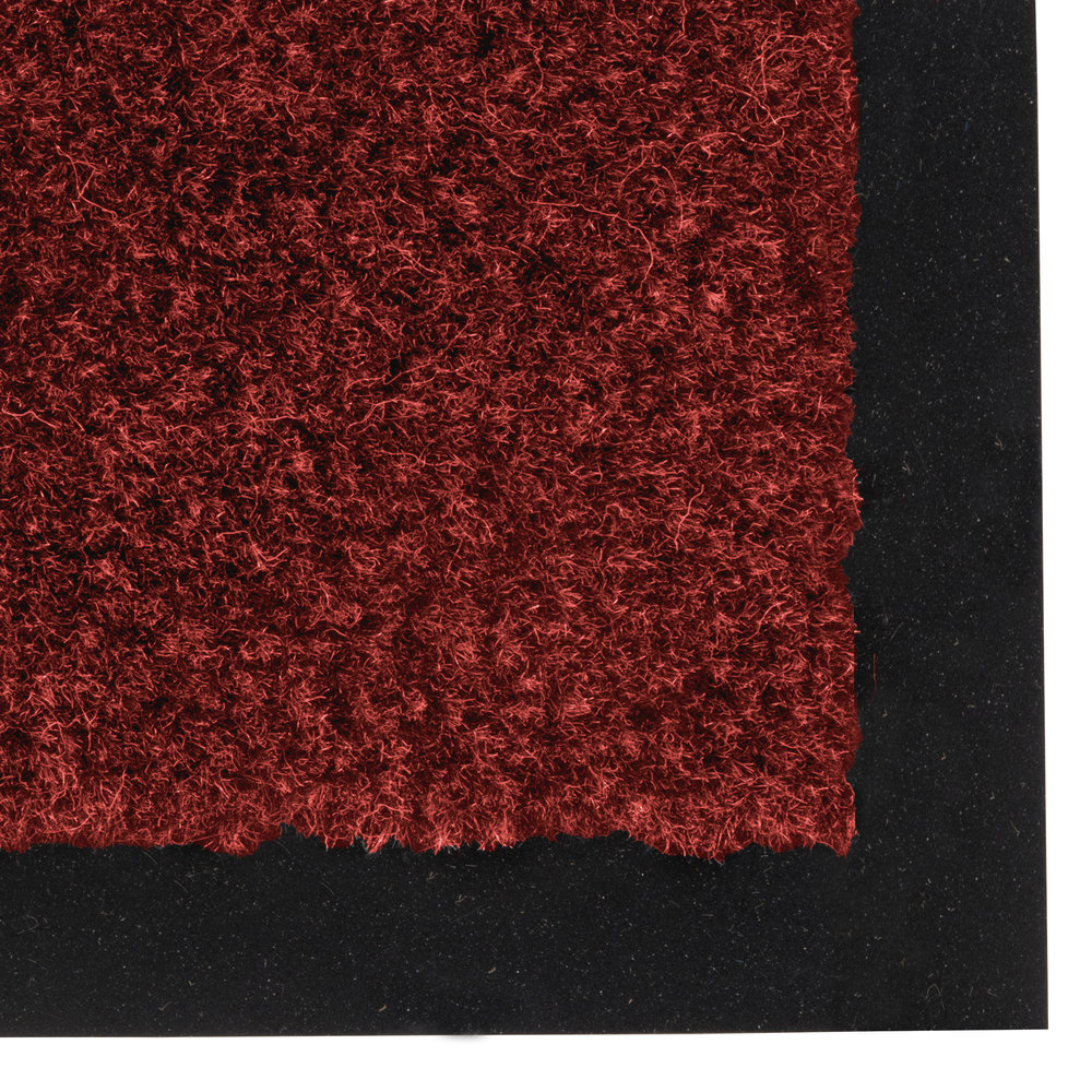 "Teknor Apex NoTrax T37 Atlantic Olefin 434-335 3' x 60' Crimson Roll Carpet Entrance Floor Mat - 3/8"" Thick"